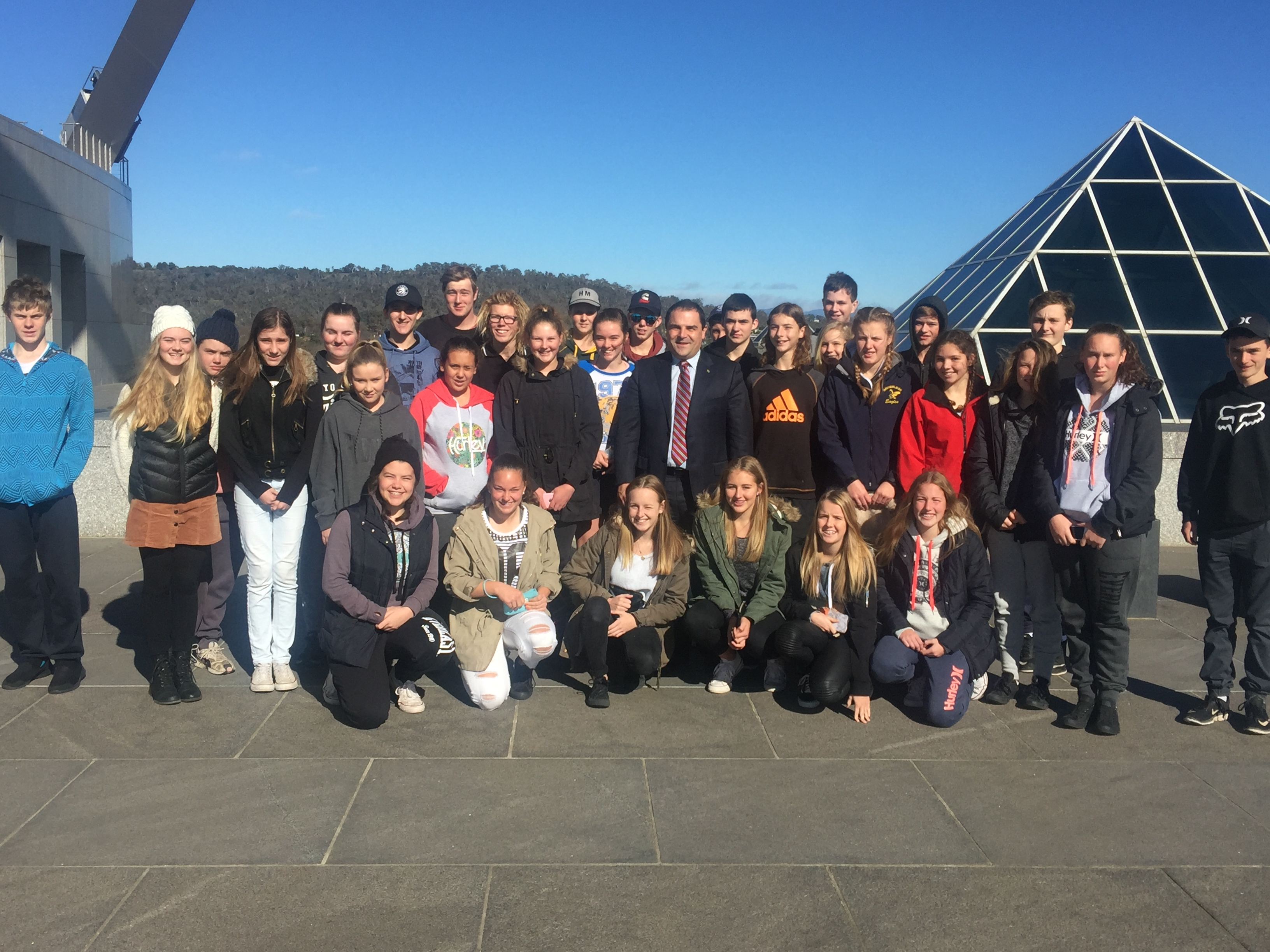 Pasin welcomes Millicent High School students to Canberra