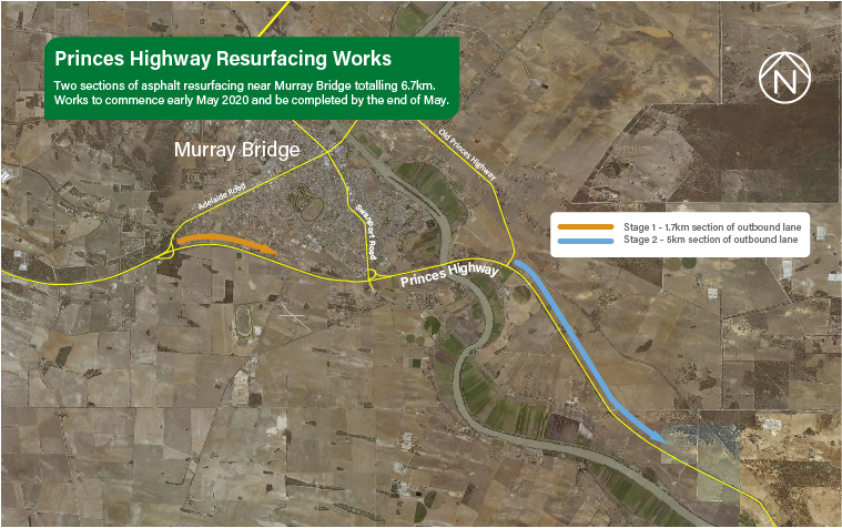 WORKS BEGIN ON PRINCES HIGHWAY, MURRAY BRIDGE