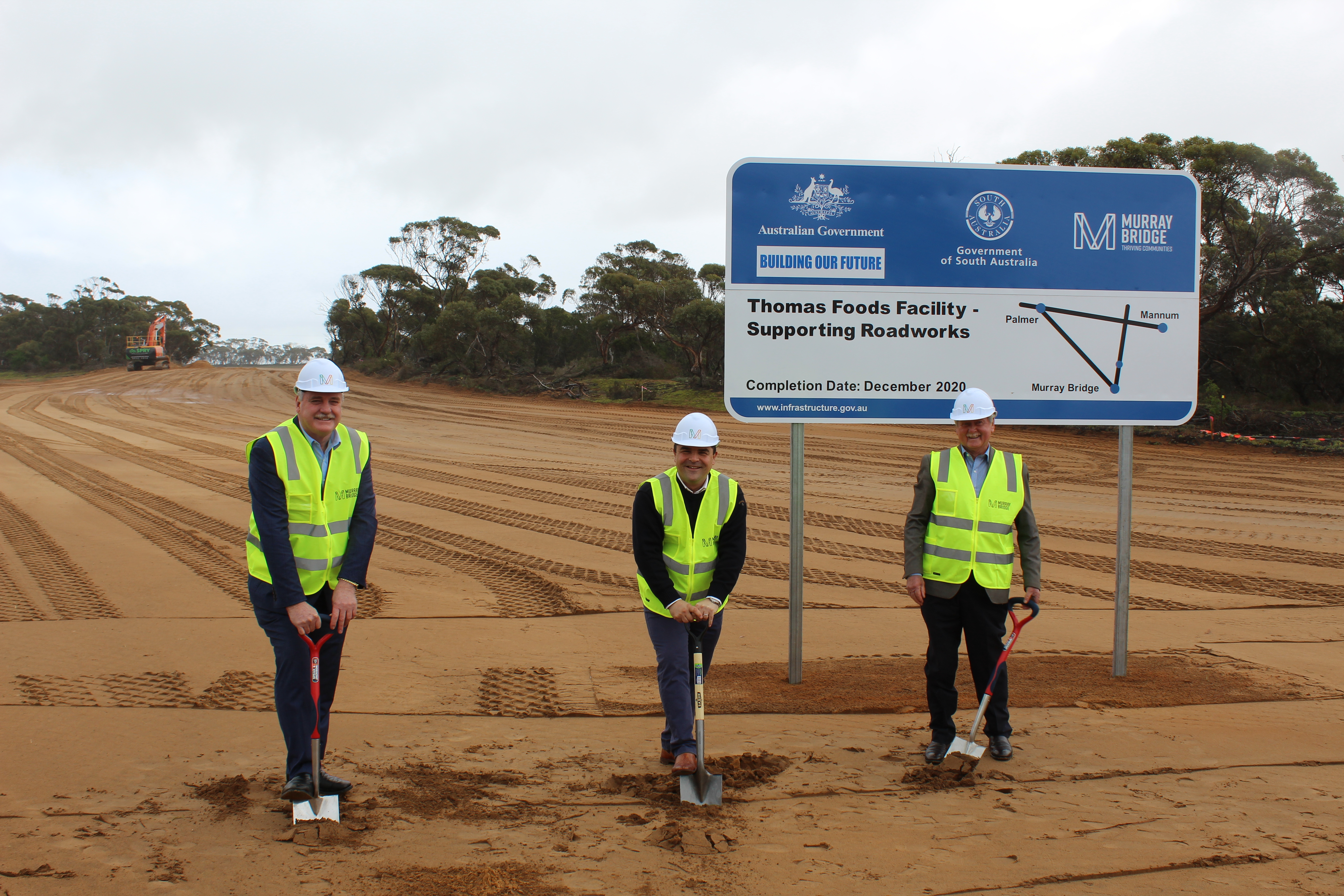 FIRST SOD-TURNED ON ROAD UPGRADES SUPPORTING NEW THOMAS FOODS INTERNATIONAL FACILITY