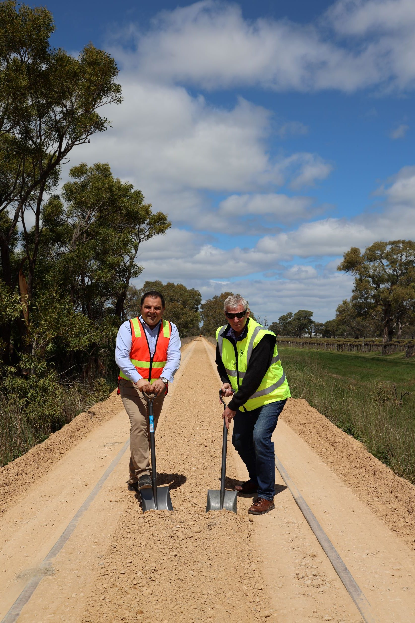 FIRST SOD TURNED ON THE COONAWARRA RAIL TRAIL